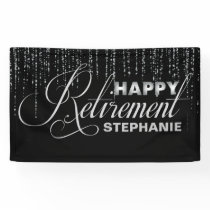 Silver and Black Retirement Party Banner