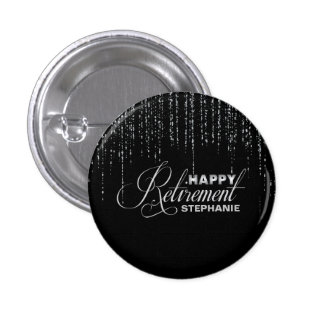 Silver and Black Retirement Pinback Button