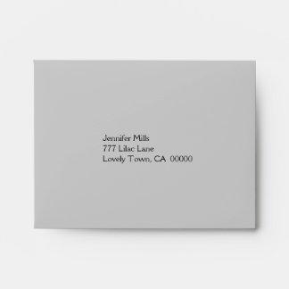 Silver and Black RSVP Envelope