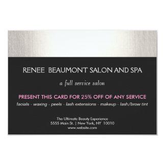 Silver and Black Salon and Spa Customer Coupon Card