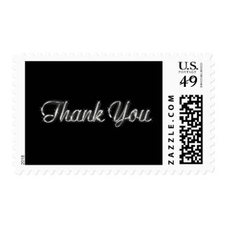 Silver and Black Thank You Postage