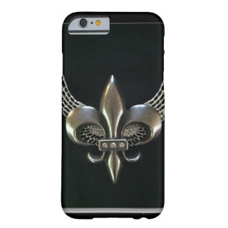 SILVER AND BLACK WINGED FLEUR-DE-LIS BARELY THERE iPhone 6 CASE