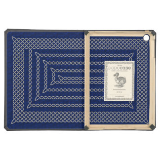 Silver And Blue Celtic Rectangular Spiral iPad Air Case