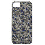 Silver And Blue Celtic Spiral Knots Pattern iPhone 5C Cases