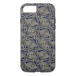 Silver And Blue Celtic Spiral Knots Pattern iPhone 8/7 Case