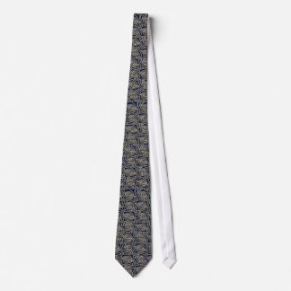 Silver And Blue Celtic Spiral Knots Pattern Neck Tie