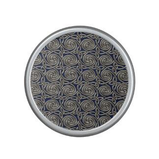 Silver And Blue Celtic Spiral Knots Pattern Speaker