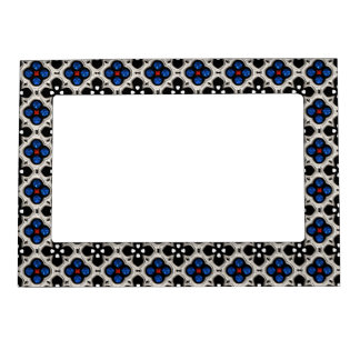 Silver and Blue Holiday Bling Magnetic Picture Frame
