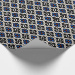 Silver and Blue Holiday Bling Wrapping Paper