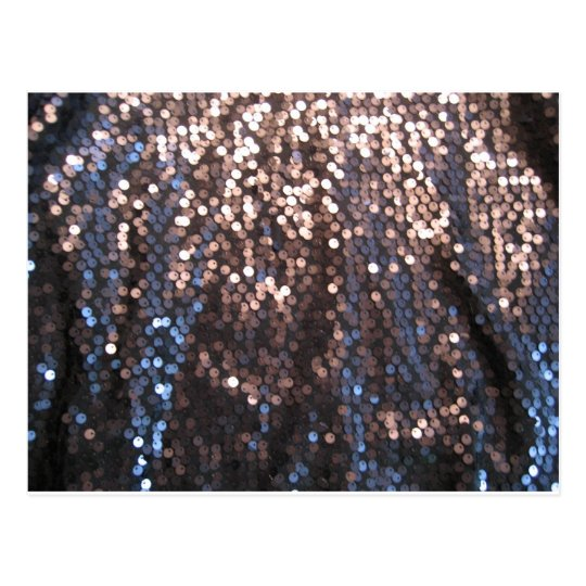 Silver and blue sparkles postcard