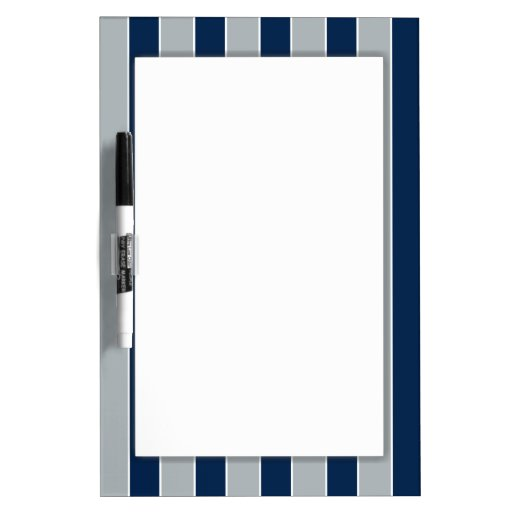 Silver And Blue Stripes Dry Erase Whiteboards