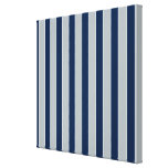 Silver And Blue Stripes Gallery Wrap Canvas