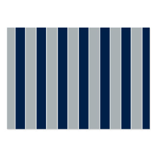 Silver And Blue Stripes - Team Colors Large Business Cards (Pack Of 100)