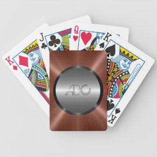 Silver and Bronze Stainless Steel Metal Bicycle Playing Cards
