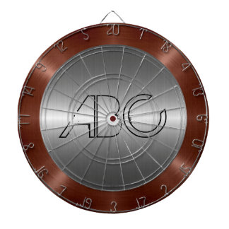 Silver and Bronze Stainless Steel Metal Dartboard