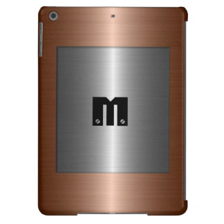 Silver and Bronze Stainless Steel Metal iPad Air Cases