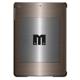 Silver and Bronze Stainless Steel Metal iPad Air Cover