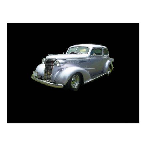 Brothers Auto Sales >> Silver and Chrome 1940 antique classic auto Postcard | Zazzle