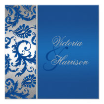 royal blue and silver wedding invitations royal blue silver collections niteowl studio wedding - Royal Blue And Silver Wedding Invitations