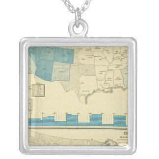 Silver and copper mining regions silver plated necklace