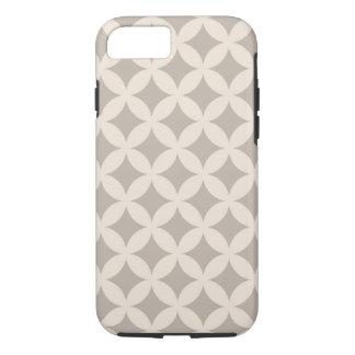 Silver and Cream Geocircle Design iPhone 7 Case
