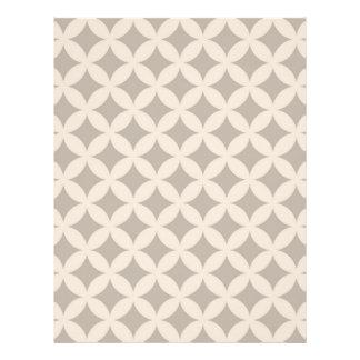 Silver and Cream Geocircle Design Letterhead
