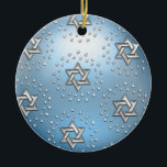 "Silver and Crystal Star of David Hanukkah Ornament<br><div class=""desc"">Holiday Decor and Gifts by Tailored Type. I am more than happy to help you with your Zazzle experience. For example, do you like the design but need a different color? Need help with the Zazzle editor? No problem! Email me: carrie at tailoredtype dot com You can also use the...</div>"