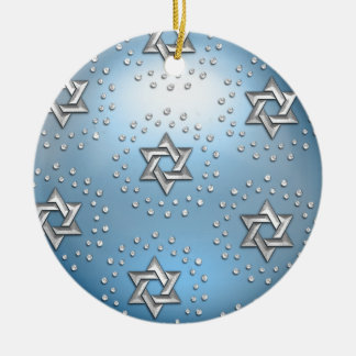 Silver and Crystal Star of David Hanukkah Ornament