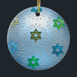 """Silver and Crystal Star of David Hanukkah Ornament<br><div class=""""desc"""">Holiday Decor and Gifts by Tailored Type. I am more than happy to help you with your Zazzle experience. For example, do you like the design but need a different color? Need help with the Zazzle editor? No problem! Email me: carrie at tailoredtype dot com You can also use the...</div>"""