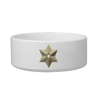 "Silver and Gold ""3-D"" stacked Star of David Bowl"