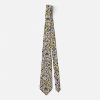 Silver And Gold Abstract Neck Tie