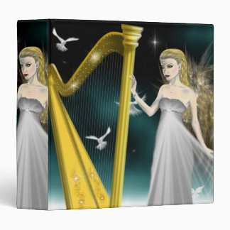 Silver and Gold Angel Binder