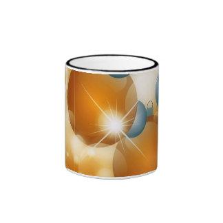 Silver And Gold Balls For Christmas Ringer Coffee Mug
