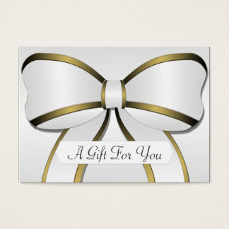 Silver and Gold Big Bow Gift Card Certificates