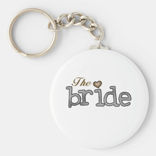 Silver and Gold Bride Keychains