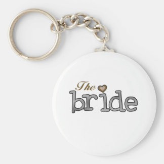 Silver and Gold Bride Keychain