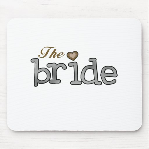 Silver and Gold Bride Mouse Pads