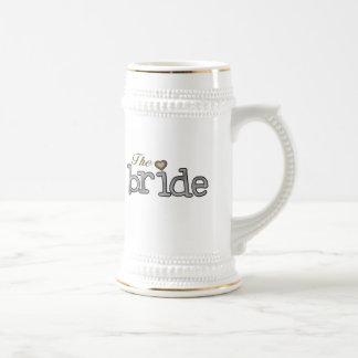 Silver and Gold Bride Coffee Mug