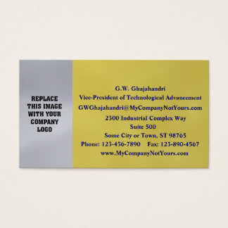 Silver and Gold Business Card