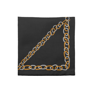 Silver and Gold Chains Cocktail Napkins