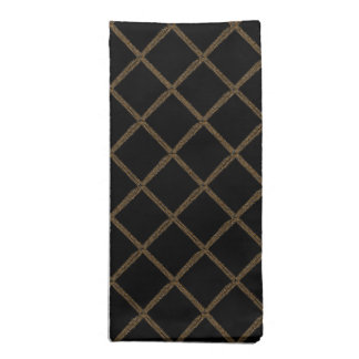 Silver and Gold Chains Tiled Dinner Napkins