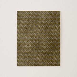 Silver and Gold Chevron Dots Puzzle
