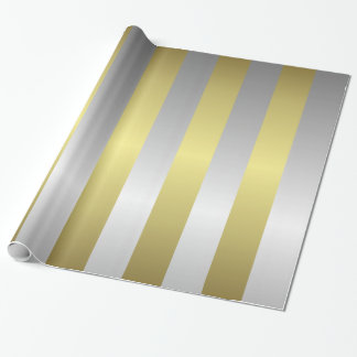 Silver and Gold Christmas Gift Wrapping Paper
