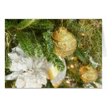 Silver and Gold Christmas Tree I Card