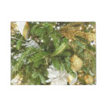 Silver and Gold Christmas Tree I Doormat