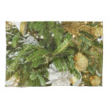 Silver and Gold Christmas Tree I Hand Towel