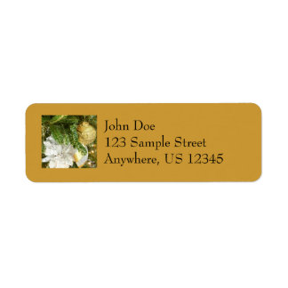 Silver and Gold Christmas Tree I Holiday Label