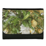 Silver and Gold Christmas Tree I Holiday Leather Wallet For Women