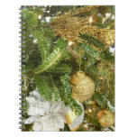 Silver and Gold Christmas Tree I Holiday Notebook
