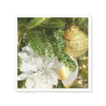 Silver and Gold Christmas Tree I Holiday Paper Napkin